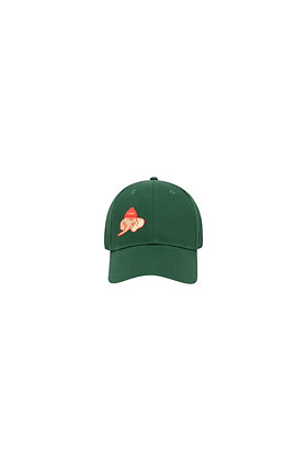 Tiny Cottons 'Luckyphant' Cap (Bottle Green/Sand)
