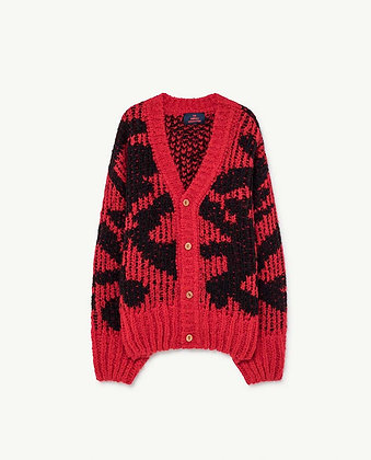 The Animals Observatory Arty Racoon Cardigan (Red)