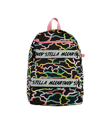 Stella McCartney Backpack With Logo Straps (Black/Mimosa)