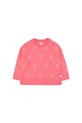 Tiny Cottons 'SODA' Sweater (Rose/Canary)