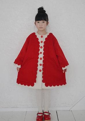 Mes Kids Des Fleurs Cape-Style Coat (Red)