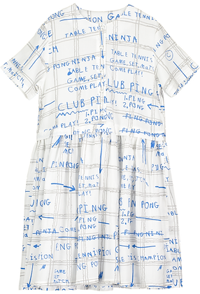 Beau Loves Game Plan Button Front Dress (Grey/Blue)