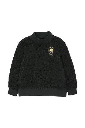 Tiny Cottons 'Cat' Sweatshirt (Black/Sand)