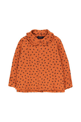 Tiny Cottons 'Tiny Flowers' Shirt (Sienna/Navy)