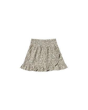 Rylee + Cru Flora Wrap Ruffle Skirt (Olive)