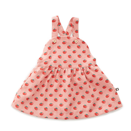 Oeuf Overall Dress (Tomato Print)