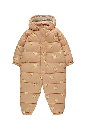 Tiny Cottons 'Hearts' Padded One-Piece (Camel/Yellow)
