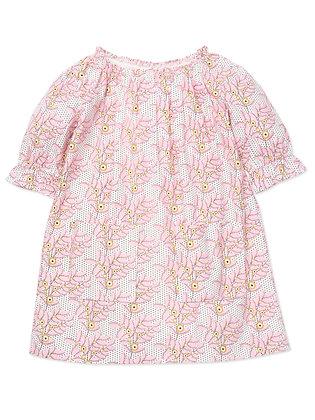 Bonton/Bonbon Flower Dress (Fleur Rose)