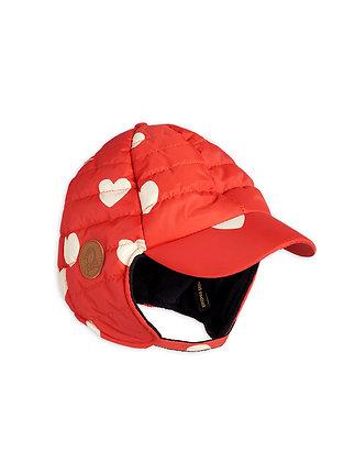 Mini Rodini Insulator Hearts Cap (Red)