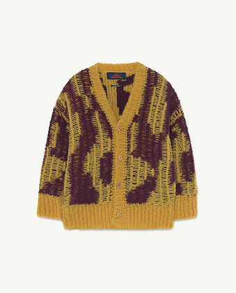 The Animals Observatory Arty Racoon Kids Cardigan (Yellow)