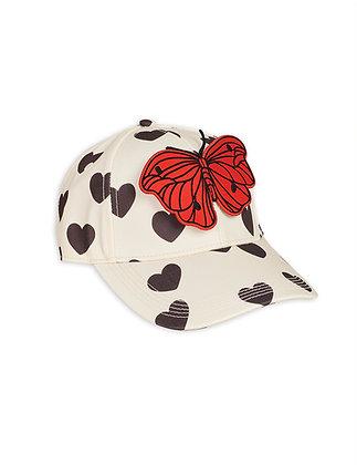 Mini Rodini Hearts Cap (White)
