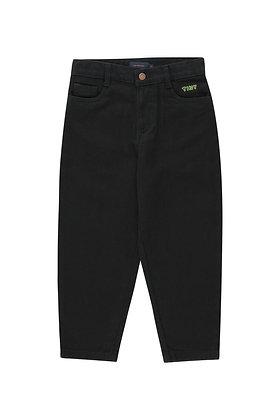 Tiny Cottons Baggy Denim Pant (Black)