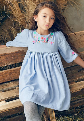 Nellystella Clover Dress (Dusty Periwinkle)