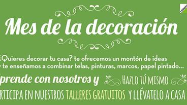 Talleres gratuitos DIY en Leroy Merlin para celebrar el mes de la decoración!!!