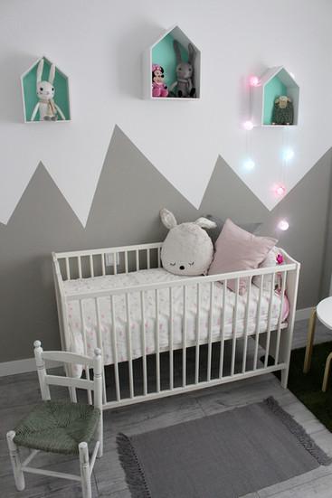 ¡Un dormitorio de bebé en estilo nórdico!