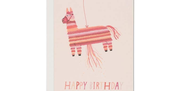 Piñata Happy Birthday Card