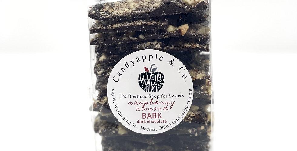 Raspberry Almond Bark - Dark Chocolate