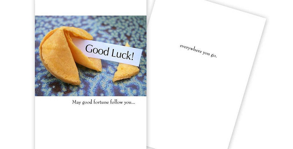 Good Fortune Good Luck Card
