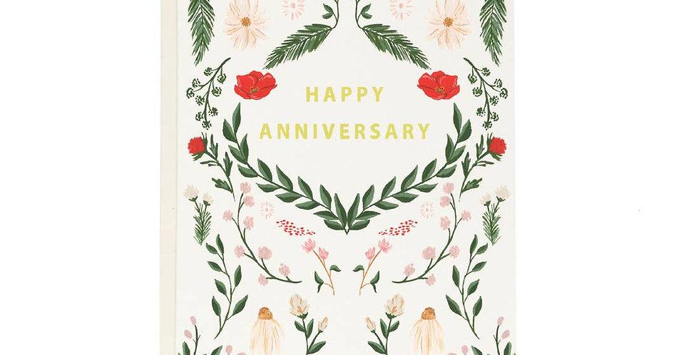 Wild Meadow Anniversary Card