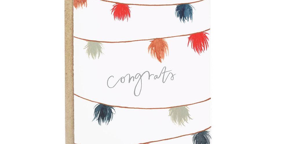 Pom Pom Congrats Card