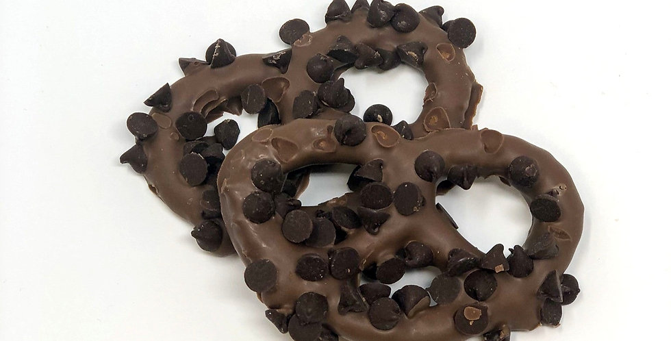 Chocolate Covered Pretzels with Chocolate Chips