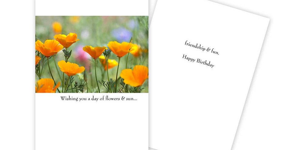 Flower Birthday Card