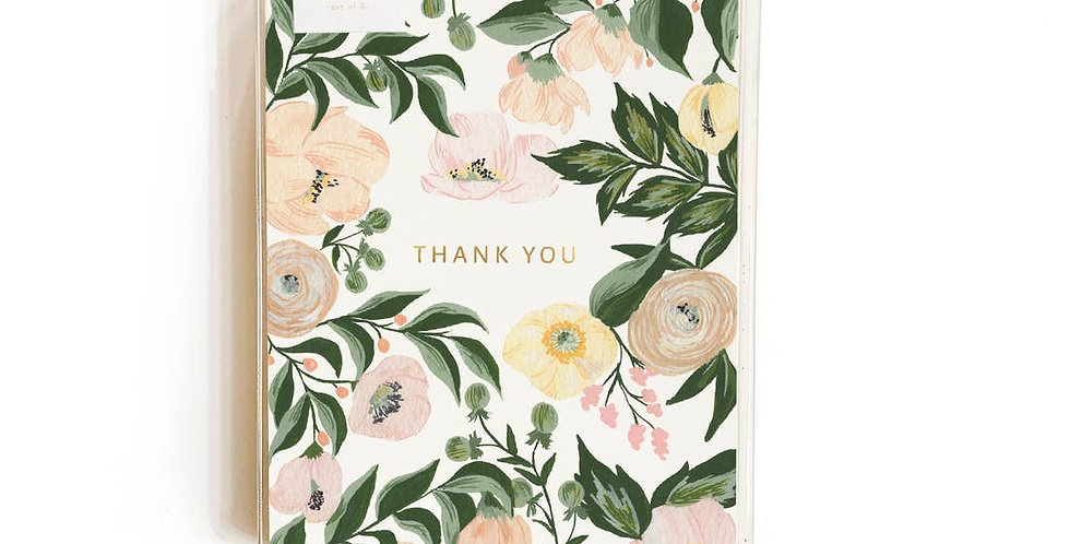 Floral Thank You Card - Set of 8