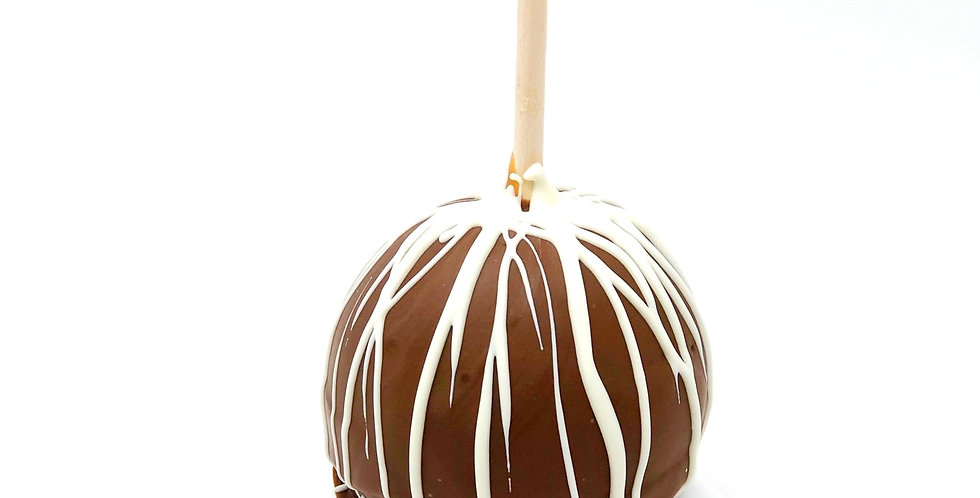 Milk Chocolate with White Chocolate Drizzle