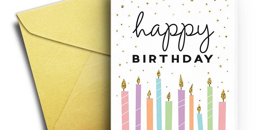 Pretty Candles Birthday Card