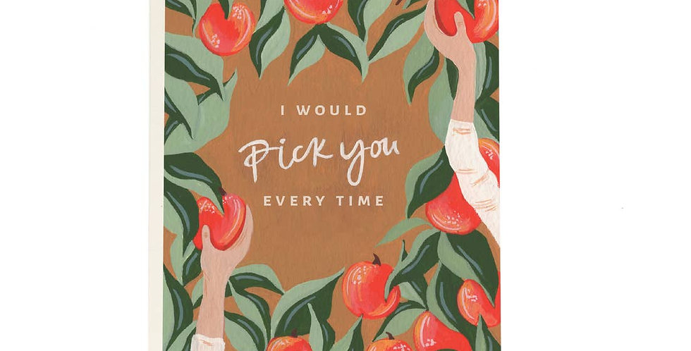 I'd Pick You Apple Orchard Card