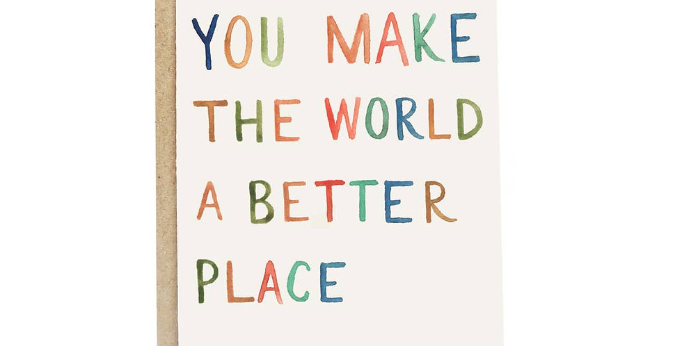 Better World Greeting Card