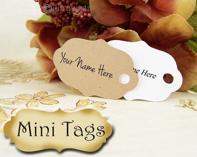40•MINI TAGS #1 • 1 X 1.5 inch•Necklace Tags•Bracelet Tags•Price Tags