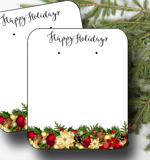HOLIDAY•Earring Cards•Holiday Tags•Holiday Labels•GARLAND 2