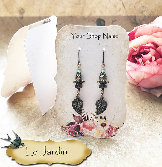 36•Le JARDIN ZOE•Tent Cards•EARRING CARDS•Jewelry Cards•Earring