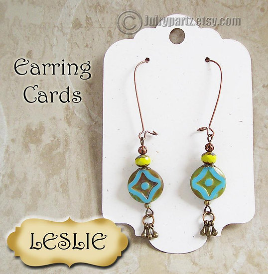 LESLIE•Decorative Ear Cards•Jewelry Cards•Earring Card