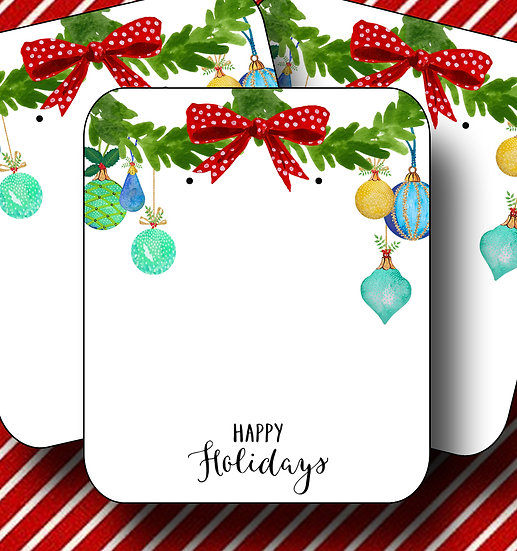 HOLIDAY•Earring Cards•Holiday Tags•Holiday Labels•ORNAMENT 1