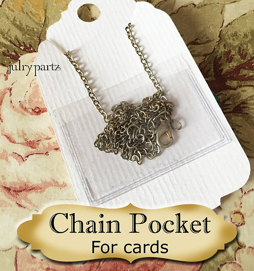 24 CHAIN POCKETS for Jewelry Cards•Chain Holders•Necklace Chain Holder