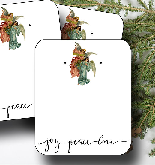 HOLIDAY Angel•Earring Cards•Holiday Tags•Holiday Labels•Angel 3