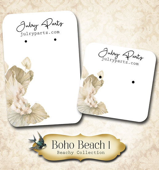 BOHO BEACH #1 •Necklace Card• Earring Cards •Jewelry Cards •Display CAR