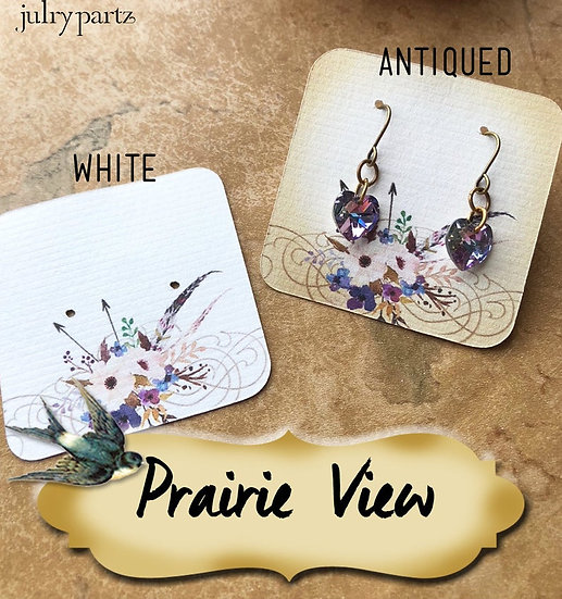 60•PRAIRIE VIEW•Necklace Card•Earring Cards•Jewelry Cards•Display Car