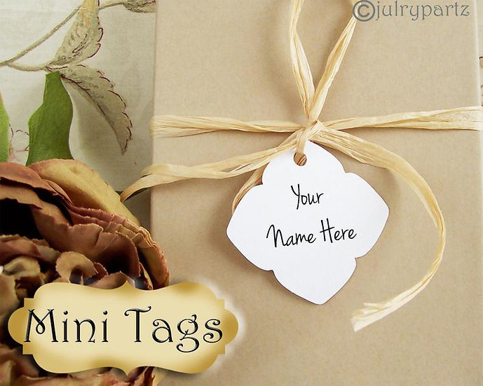 30•MINI TAGS #5 • 1.5 X 1.5 inch•Necklace Tags•Bracelet Tags•Price Tags