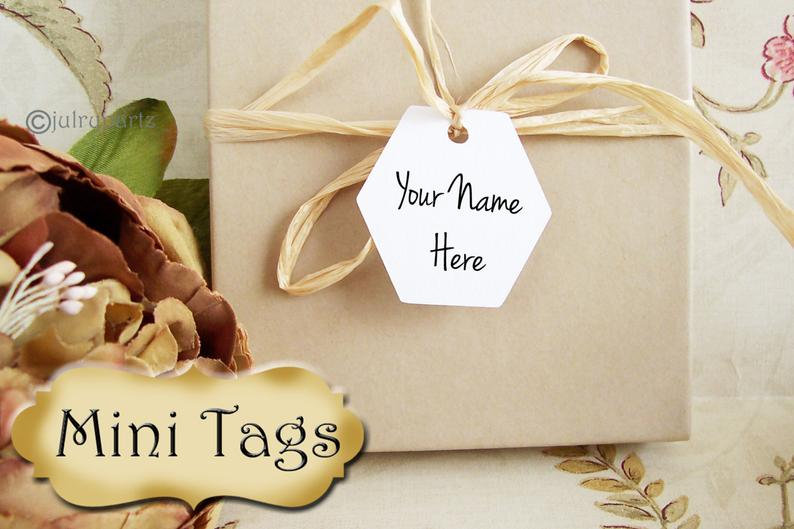 30 MINI TAGS #16 • 1.5 X 1.5 inch•Necklace Tags•Bracelet Tags•Price Tags