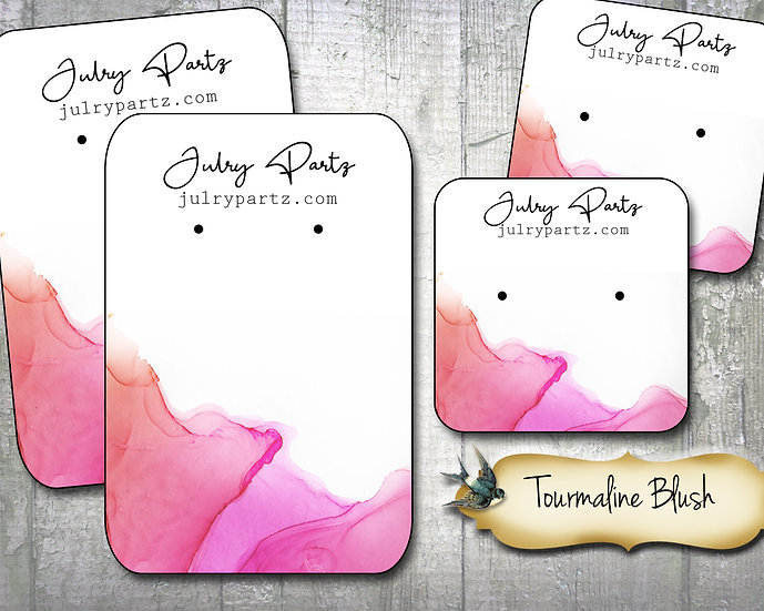 60•TOURMALINE BLUSH•Necklace Card•Earring Cards•Jewelry Cards•Display Ca