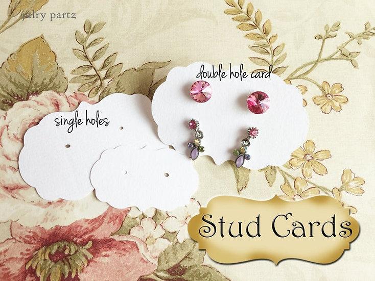 ORNATE STUD•EARRING Cards•Jewelry Card•Post Earring Card•STUD 11/13