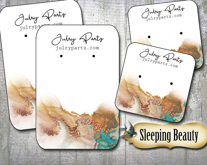 SLEEPING BEAUTY•Necklace Card•Earring Cards•Jewelry Cards•Display Ca
