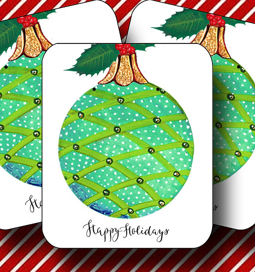 HOLIDAY•Earring Cards•Holiday Tags•Holiday Labels•ORNAMENT 4