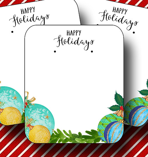 HOLIDAY•Earring Cards•Holiday Tags•Holiday Labels•ORNAMENT 5