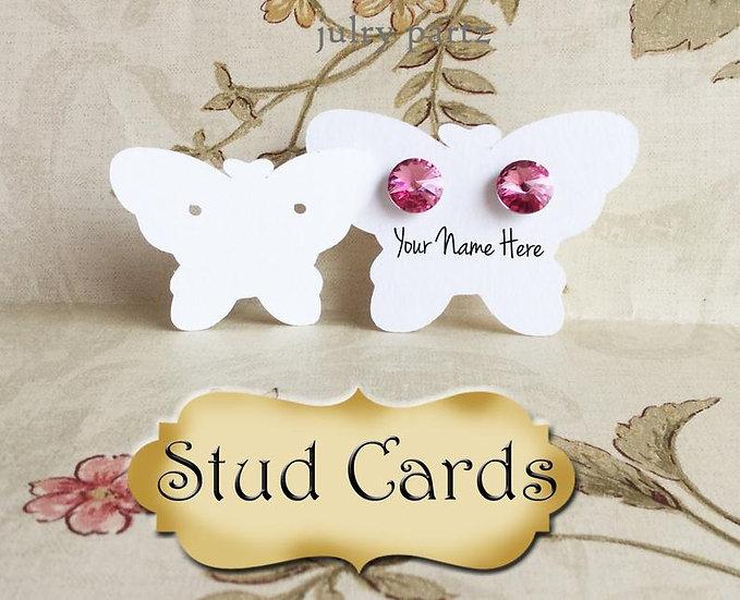BUTTERFLY•EARRING Cards•Jewelry Card•Post Earring Card•STUD 14