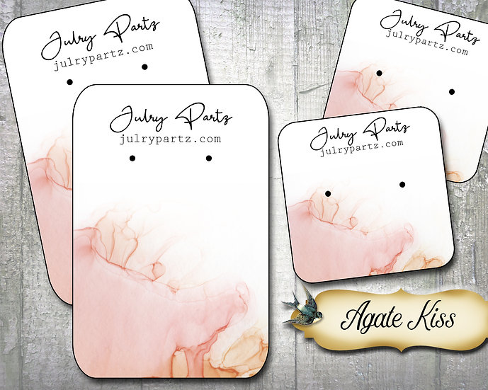 AGATE KISS•Necklace Card•Earring Cards•Jewelry Cards•Display Card