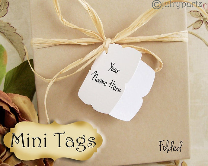 12 MINI TAGS #4 • 1.5 X 1.5 inch•Necklace Tags•Bracelet Tags•Price Tag